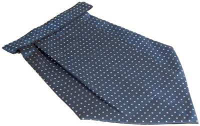 The Vatican Blue with Light Grey Plus Designs all Over Cravat