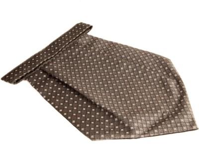 The Vatican Grey Cravat With Light Grey Boxes & Black Self Checks Cravat