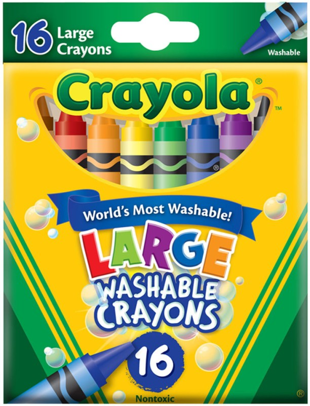 Crayola Triangular Shaped Wax Crayons(Set of 16, Multicolor)