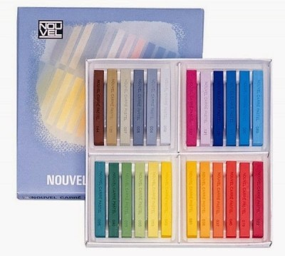 Sakura Square Shaped Pastel Crayons(Set of 1, Multocolor)