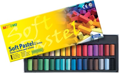 Mungyo Soft Pastel Crayons(Set of 32, Assorted)