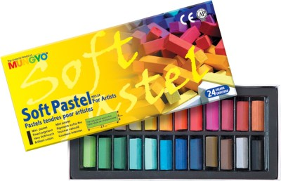 Mungyo Soft Pastel Crayons(Set of 24, Assorted)