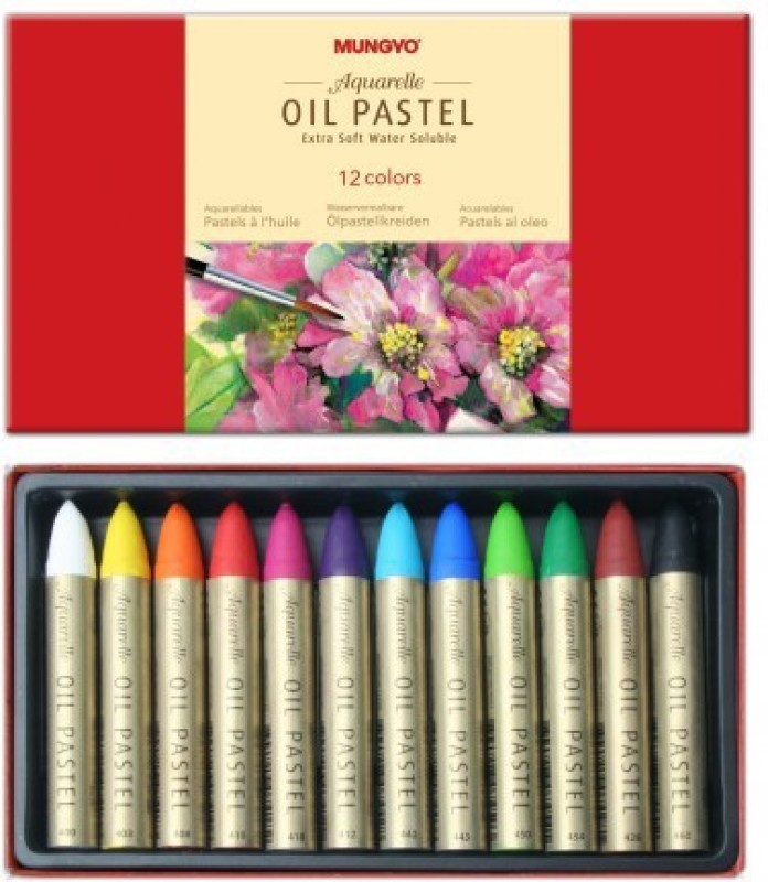 Mungyo Round Shaped Oil Pastels Washable Crayons(Set of 1, Assorted)