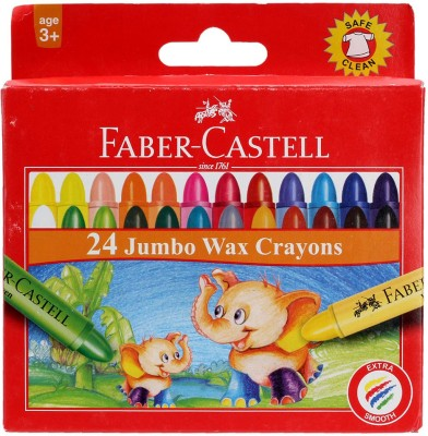 Faber Castell Crayons Round Shaped Wax Crayons
