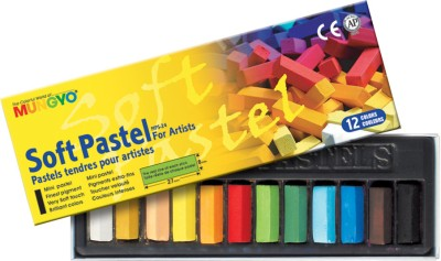 Mungyo Soft Pastel Crayons(Set of 12, Assorted)