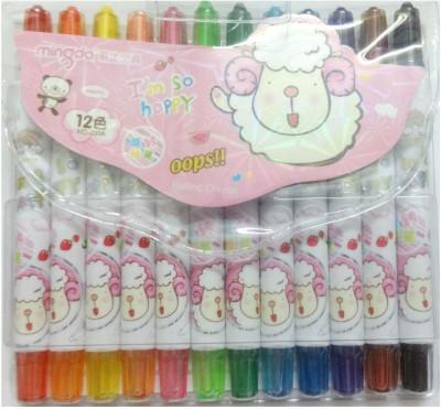 Mingda Round Shaped Plastic Crayons