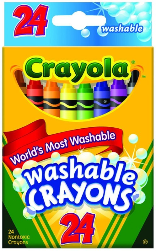 Crayola Triangular Shaped Wax Washable Crayons(Set of 1, Multi Colours)