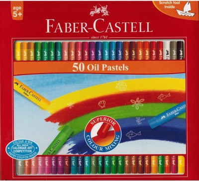 Faber Castell Expressionist Round Shaped Oil Crayons(Set of 1, Red)