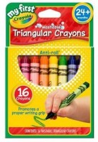 Crayola Triangular Shaped Wax Washable Crayons(Set of 1, Multicolor)