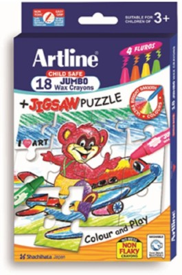 Artline Sachihata Round Shaped Wax Washable Crayons