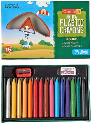 Camlin Artica Round Shaped Plastic Washable Crayons