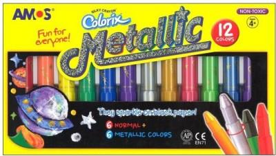 Amos Colorix Octagonal Shaped Pastel Washable Crayons