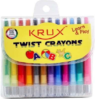 Krux Learn & Play Round Shaped Crayons Crayons