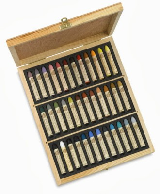 Sennelier Round Shaped Oil Pastel Crayons(Set of 36, Assorted)
