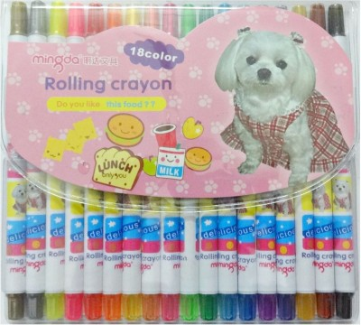 Aardee Round Shaped Rolling Crayons