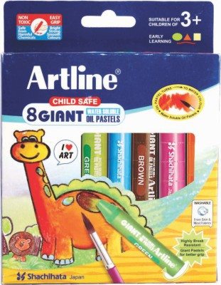 Artline Giant Round Shaped Oil Pastels Crayons