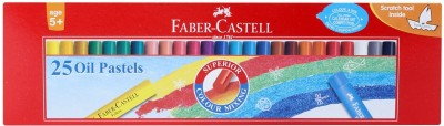 Faber-CAstell Round Shaped Oil PAstel Washable Crayons