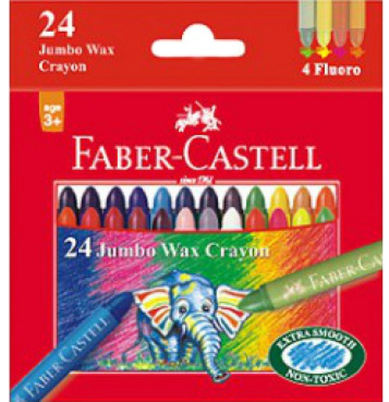 Faber-Castell Round Shaped Wax Crayon
