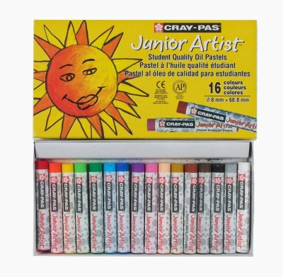 Sakura Round Shaped Oil Pastel Crayons(Set of 2, Yellow)
