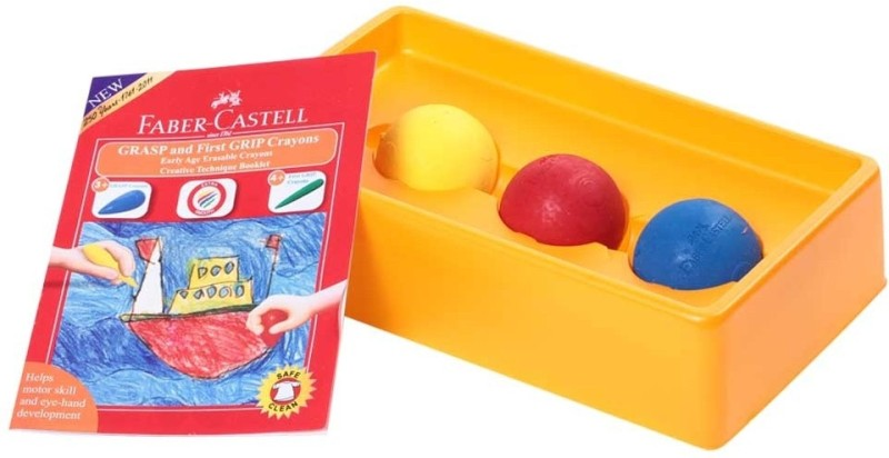 Faber Castell Ball Shaped Wax Crayons(Set of 3, Multicolor)