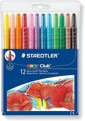 Staedtler Hexagonal Shaped Wax Crayons(Set of 1, Multicolor)