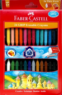 Faber-Castell Erasable Triangular Shaped Plastic Crayons