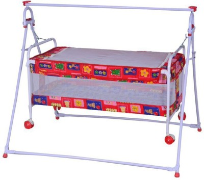 Mothertouch Baby Cradle Cum Cot(Red)
