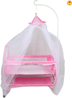 BAYBEE ComfyNest Swing Cradle (Pink)(Pink)