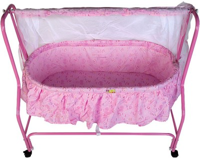 Mee Mee Baby Cradle with Swing and Mosquito Net(Pink)