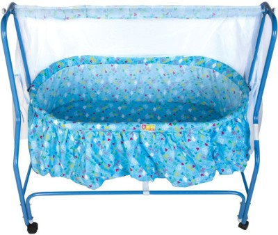 Mee Mee Baby Cradle with Swing and Mosquito Net(Blue)