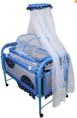 BAYBEE Maginificia Crib N Cradle (Blue)(Blue)