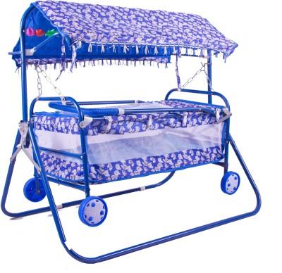 BabyGo Cradle Cot Cum Stroller Blue(Blue)