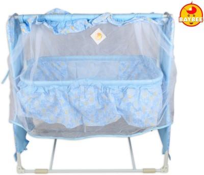 BAYBEE Sleep-Well Bassinet Cradle(Blue)