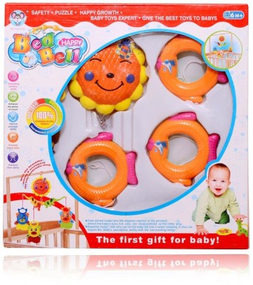 Planet of Toys Bed Happy Baby Bell Rattle