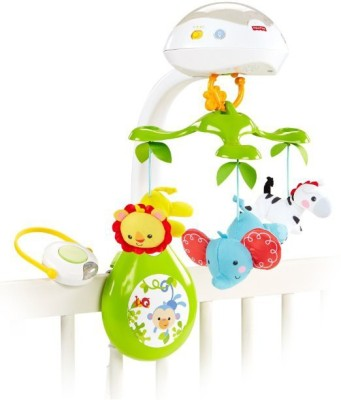 Fisher-Price Deluxe Projection Mobile, Rainforest Friends 3-in-1(Multicolor)