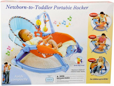 Tabu New Born To Toddler Portable Rocker(Multicolor)