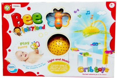 Gift World Baby First bed Bell With Light and Music Projector Crib