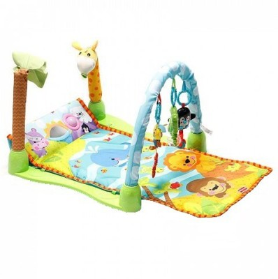 Bubble Hut Rainforest 1-2-3 Baby Mat And Musical Gym(Multicolor)