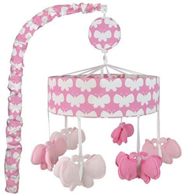Just Born Safe Sleep Butterflies Pink Mobile(Pink, White)
