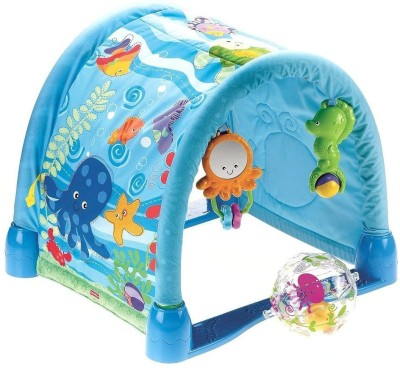 Zest4toyz Infant Kick and Crawl Mat - Rain Forest Musical Baby