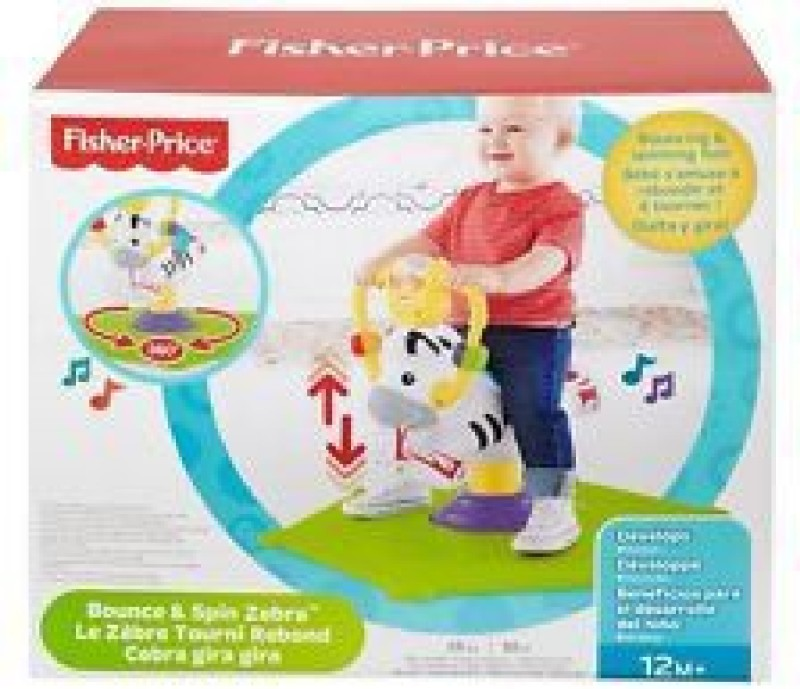 Fisher Price Bounce and Spin Zebra(Multicolor)