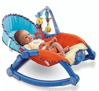 Smiles Creation Newborn-To-Toddler Portable & Folding Rocker Cum Chair With Soothing Vibration & Musical Toy