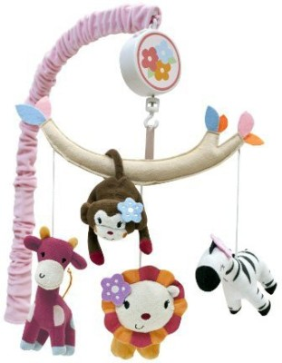 Lambs & Ivy Jelly Bean Jungle Musical Mobile (Discontinued by Manufacturer)(Multicolor)