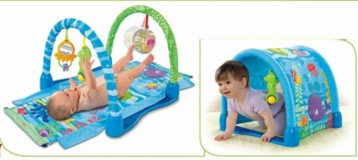 Just Toys 3 Way Kick & Crawl Play Gym with Innovative Tunnel Hood
