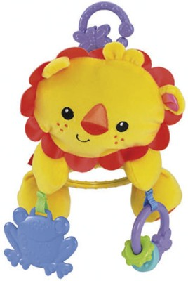 Fisher-Price Lion Stroller Plush(Yellow)