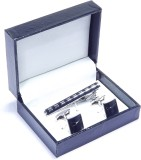 Mentiezi Brass Cufflink Set (Silver)