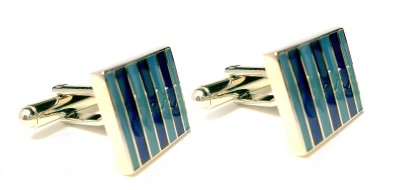 Peluche Brass, Rhodium Plated Cufflink