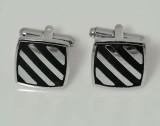 Tiekart Stainless Steel Cufflink (Black)