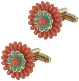 The Museum Outlet Metal Cufflink (Pink, ...