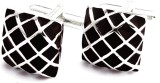 Chuck it Brass Cufflink (Black, Silver)